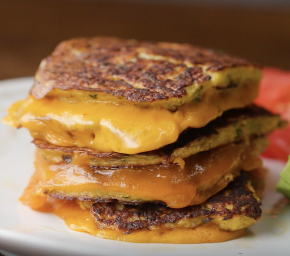 Cauliflower grilled cheese from Tasty