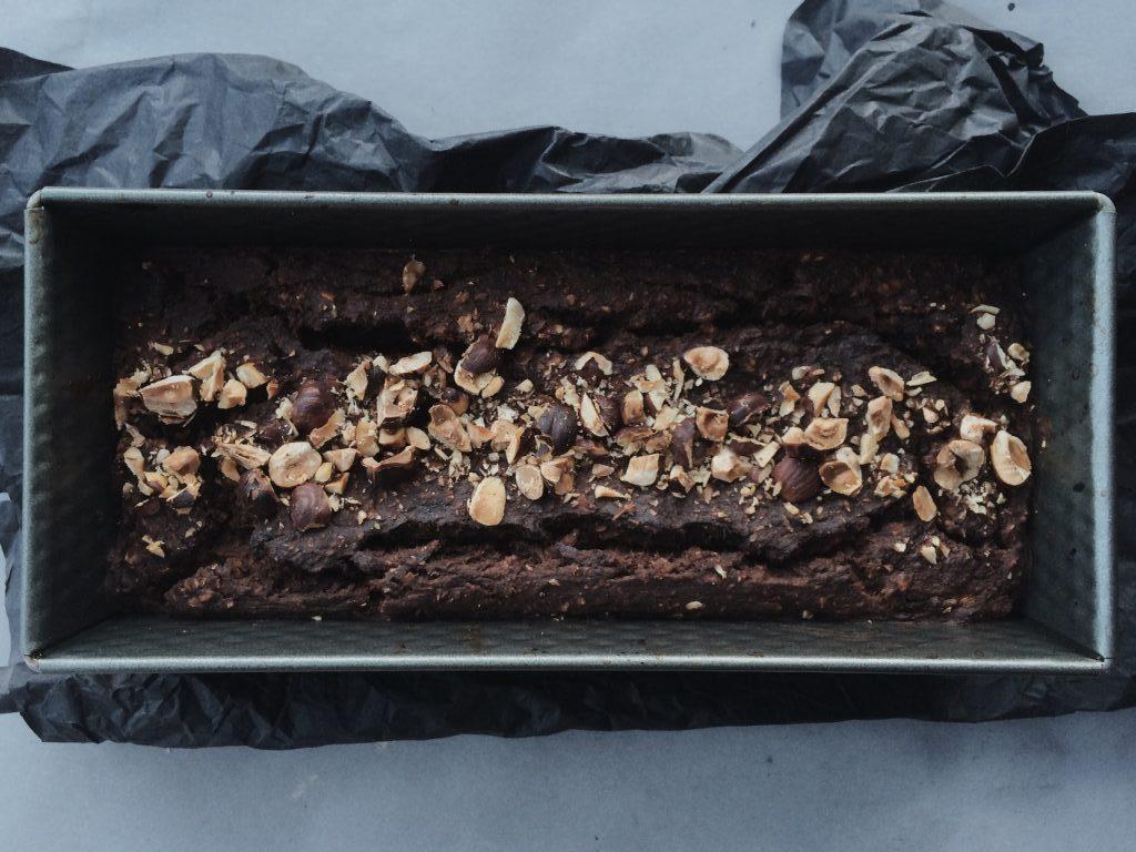 eight-ingredient fudgey brownie loaf