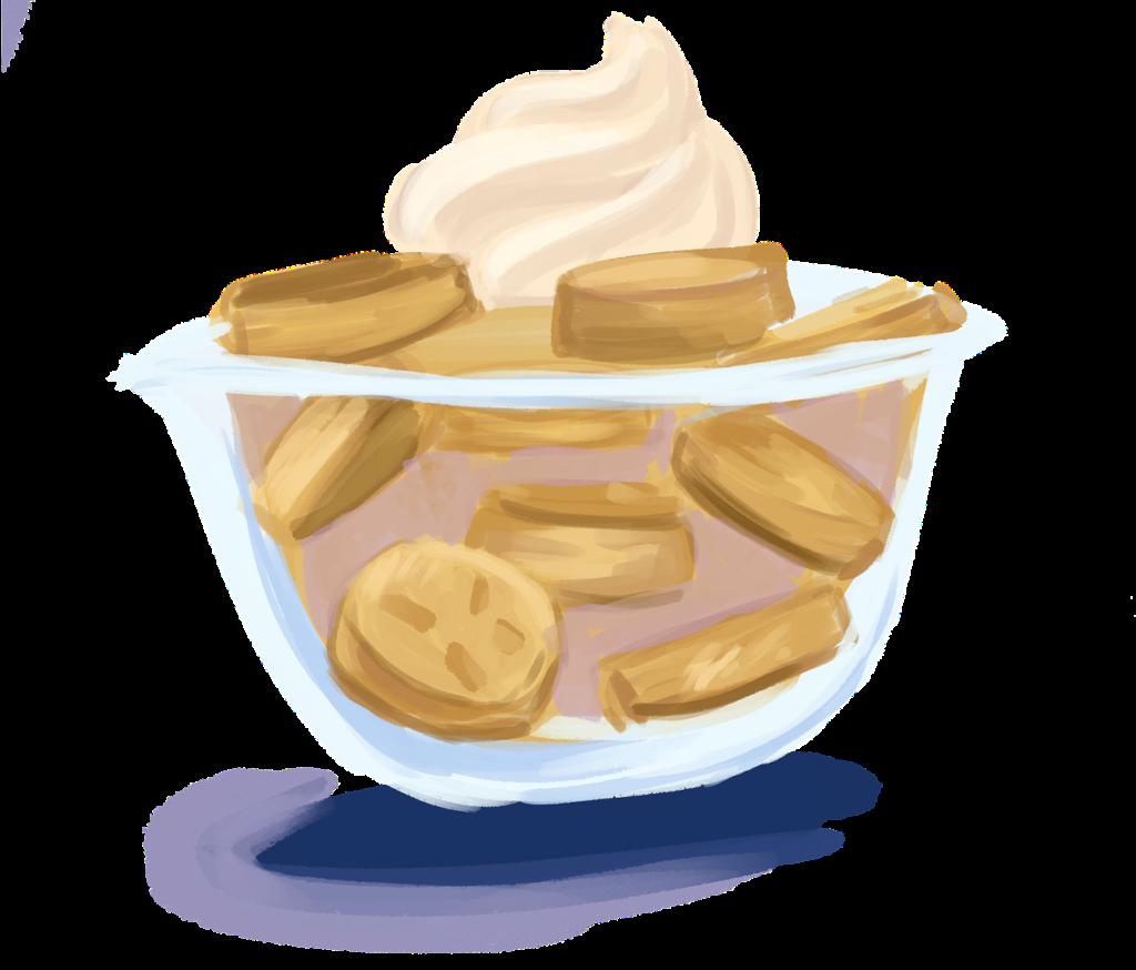 sweet and light banana cream pudding